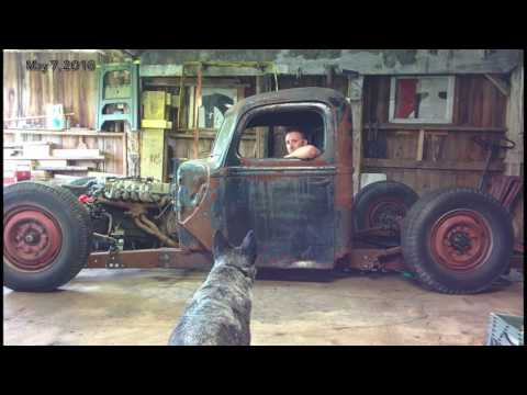 1946 ford 1 ton truck Rat Rod Build Video