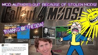 Mod Authors quit making mods because of stolen mods on Bethesda.net!!! (RANT)