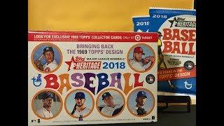 2018 Topps Heritage Baseball Box Break     WHAT IS THIS??