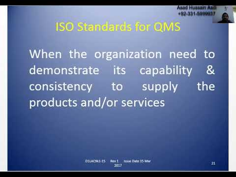 Day One Lecture ISO 9001:2015 QMS Lead Auditor Course, Best ...