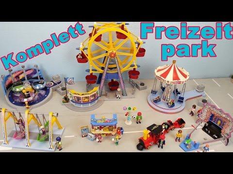 Playmobil Freizeitpark Komplett seratus1 Riesenrad Breakdancer Schiffschaukel