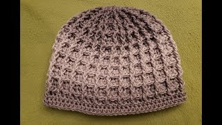 The Waffle Stitch Hat Crochet Tutorial!