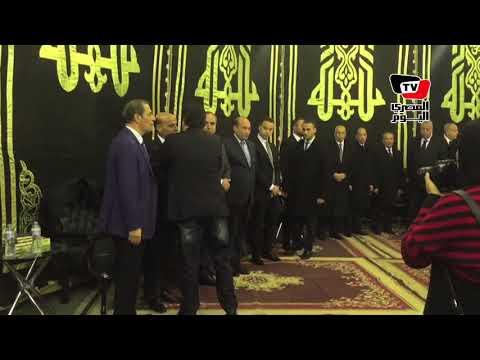 أحمد موسي ونقيب الصحفيين يتلقيان عزاء إبراهيم نافع