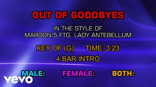 Maroon 5 ftg. Lady Antebellum - Out Of Goodbyes (Karaoke)