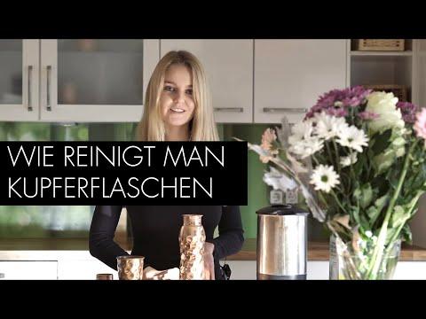 Come pulire la bottiglia e il bicchiere in rame (tedesco)
