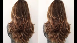 Perfect Long Layered Haircut Step By Step, Layers Technique
