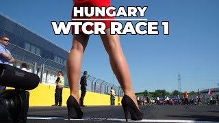 WTCR race 1 highlights Hungaroring with Tom Coronel with the Honda Civic Type R