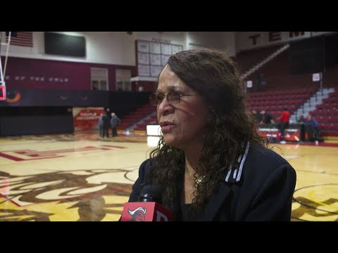 Coach Vivian Stringer Interview after Temple Win