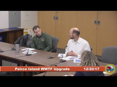 Peirce Island Waste Water Treatment Facility Upgrade 12.20.2017