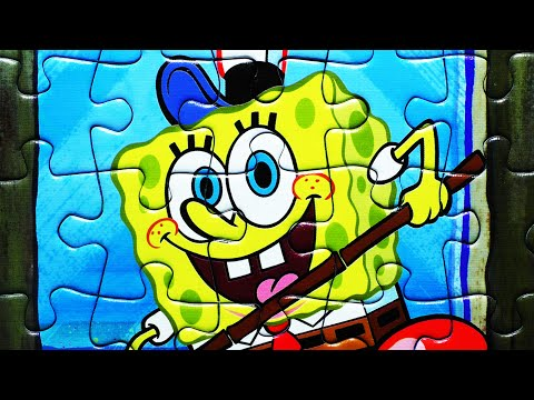 SPONGEBOB SQUAREPANTS Jigsaw Puzzle Game Rompecabezas Play Puzzles De Toys Kids Learning Activities