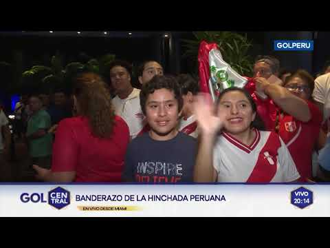 Selección Peruana: más de 200 hinchas realizaban el banderazo hasta que llegó la policía