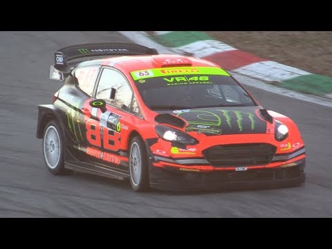 Uccio & Brivio Ford Fiesta WRC Plus at 2018 Monza Rally Show-MAX Attack, FlyBys, Action & More