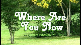 Where Are You Now - Jimmy Harnen (KARAOKE)