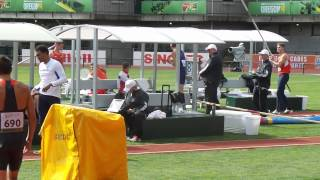 WJCH Eugene Decathlon - Jan Dolezal Pole Vault 440cm