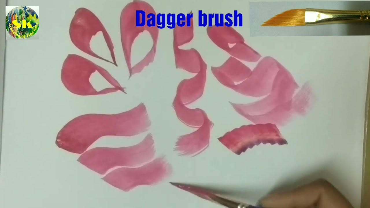 painting types of paint brushes and painting tips by sk academy of fine arts
