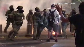 Navy vet Christopher David speaks on Portland protests