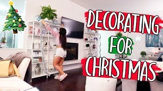 DECORATING FOR CHRISTMAS!! Vlogmas Day 16