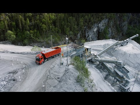 Video bij: Autonomous Volvo trucks for Brønnøy Kalk AS