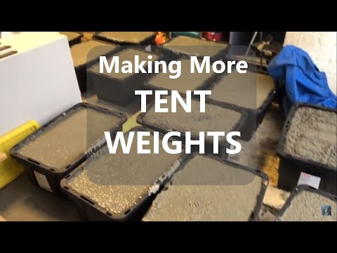 Made More Tent Weights Today - Growing Event Rental Business