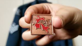 How to place air cadet badges and pins