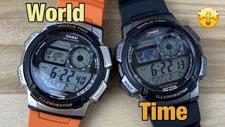 Casio AE1000 world time