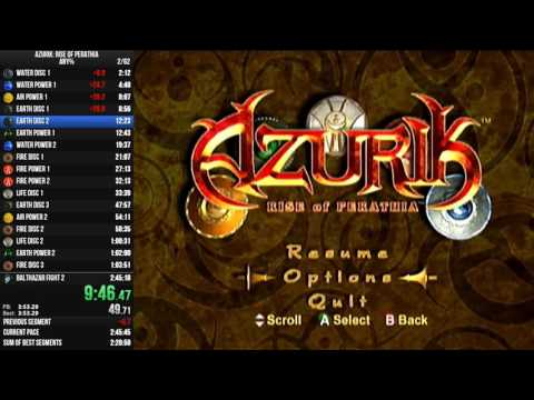 SillyGoose - Azurik Any% Speed Run - 2:35:18 [World Record]