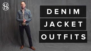 How To Wear A Denim Jacket | 3 Mens Fall Outfit Ideas (Denim Jacket Lookbook)