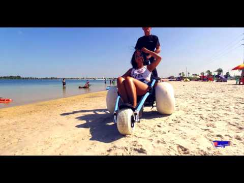 Hippocampe Floating Beach Wheelchair Sand Balloon Tires from Top Mobility