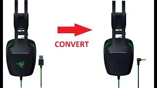 Razer ELECTRA v2 USB headphone teardown and convert to audio jack