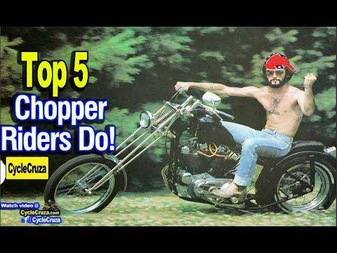 Top 5 Stupid SHIT Chopper Motorcycle Riders Do   MotoVlog