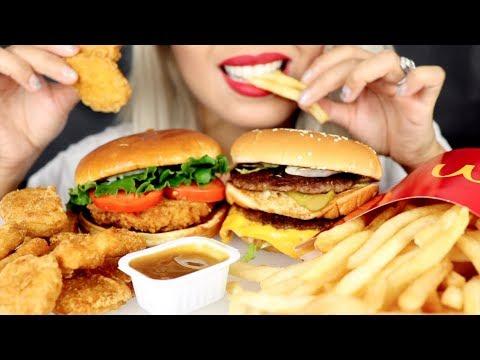 ASMR Eating McDonald's Chicken Nuggets & Fries *No Talking
