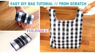 DIY BAG/TOTE BAG/HANDMADE SHOPPING BAG/bolsa Diy/ Bolsa De Bricolaje/coudre Un Sac/DIYバッグ/ถุงหิ้วผ้า