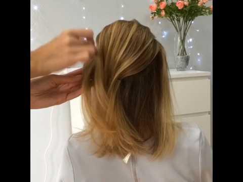 Прическа на короткие волосы по плечи, ракушка/ Frenchtwist