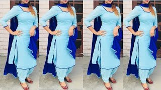 mqdefault - Plain Punjabi Suit With Contrast Dupatta || Latest Plain Suit || Punjabi Suits