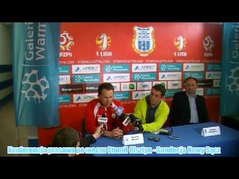 Konferencja prasowa po meczu Stomil Olsztyn - Sandecja Nowy Sącz