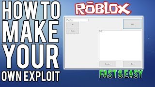 2018 How To Create A Roblox Exploit Lua C Executor With - roblox lua c injector