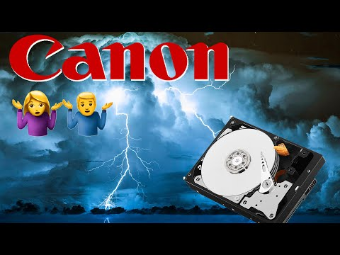 Canon users beware! Back up your data properly!
