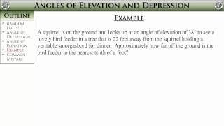 Geometry, Section 8-4 -- Angles Of Elevation And Depression