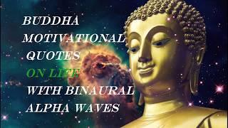 Buddha Quotes On Life With Binaural Healing Tibetan Music _Relaxing Buddhist Meditation