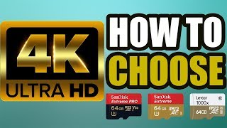How to Choose Memory Cards For 4K Video