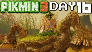 Pikmin 3 Gameplay Walkthrough Day 22 Quaggled Mireclops 5th