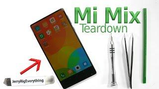 Xiaomi Mi Mix Teardown - Piezoelectric Speaker Test - Screen Replacement