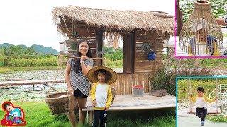 น้องบีม | เที่ยวกาญจนบุรี ต้นจามจุรียักษ์ Cafe ริมบัว