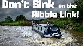 Panic! Trying Not To Sink Our Narrowboat on the Ribble Link!