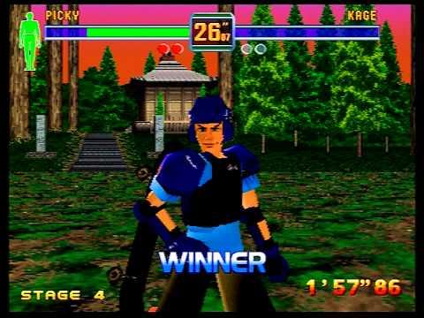 Fighters Megamix Walkthrough - (Sega Saturn) 1P Mode as