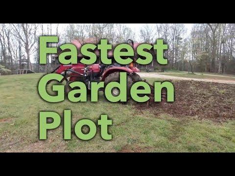 The fastest way to make a garden plot!