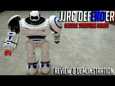 "JJRC ""Defender"" Missile shooting remote controlled robot Review"