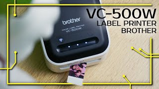 VC-500W - kleiner Label Printer | So gut wie ein Farbdrucker? | Review (deutsch)
