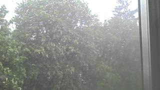 preview picture of video 'severe thunderstorm with gusty winds and hail stones in Herkimer, NY on June 8th, 2011'