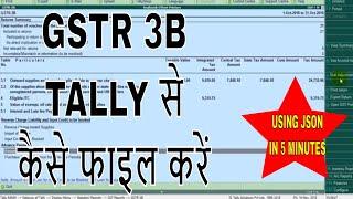 HOW TO FILE GSTR 3B USING TALLY ERP 9, GSTR 3B TALLY से कैसे फाइल करें, GSTR 3B FILING WITH TALLY
